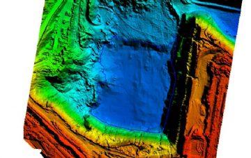 Bathy colours digital elevation model